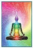 Close Up The Seven Chakras Poster Meditation (94x63,5 cm)