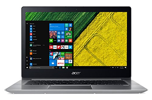 Acer Swift 3 SF314-52-570N Notebook, 14' FHD LCD, Intel Core i5-7200U, RAM 8 GB DDR4, 256 GB Intel PCIe SSD, Argento [Italia]