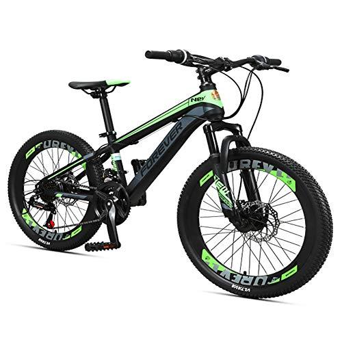 Nengge Kinderfiets, mountainbike, 24 versnellingen, dubbele schijfrem, frame van staal met hoog koolstofgehalte, voor jongens en meisjes