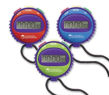 Learning Resources Simple 3 Button Stopwatch Supports Science Investigations Timed Math Exercises Elapsed Time Tracking Ages 5+