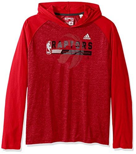 NBA Toronto Raptors Fast Break Climate Ultimate L/S - Capucha para Adulto (Talla L), Color Rojo
