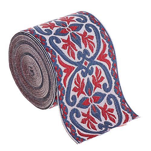 Cintas de Tela para Coser DIY Costura Artesanía de Vintage Decorativos para Manualidades,Largo de 5 Metros,Vino Rojo,2 Tamaños de Elegir - 6cm