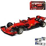 Ferrari SF90 Nr 5 Sebastian Vettel Saison 2019 Matt Rot 1/43 Bburago Modell Auto