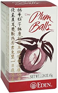 Eden Foods Ume Plum Balls 2 28 oz 65 g