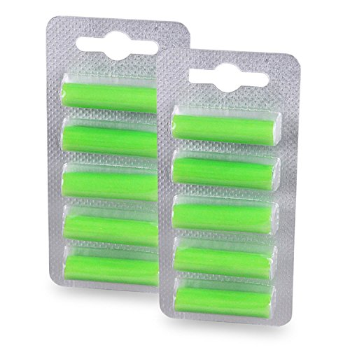 PATONA 10x Geurpatronen Deo Sticks voor alle stofzuigers met zak groen bos green forest