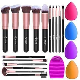 BESTOPE Makeup Brushes Rose Gold Makeup Brush Set
