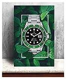 CCZWVH Lienzo 1 Set Pinturas Wall Artwork HD Print Poster Rolex Relojes Decoración del hogar Modular Imagen Verde para el Dormitorio 20x28 Inch Sin Marco