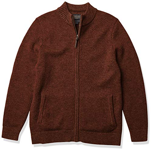 Pendleton Men's Shetland Full-Zip Cardigan Sweater, Oxblood, MD