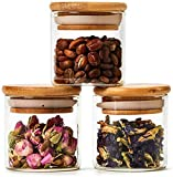 Ashoka's Mart 3 Piece Glass Jars Air Tight Canister Kitchen Food Storage Container