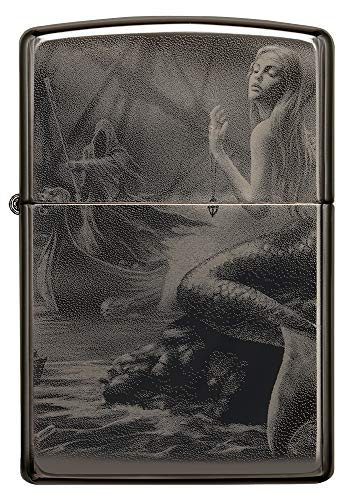 Imagen del productoZIPPO Encendedor de Gasolina Recargable Anne Stokes Black Ice en Caja de Regalo