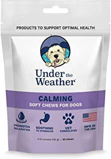 Under the Weather Pets | 60 Soft Dog Chews Supplements for Calming or Probiotics | Calming: Supports Relaxation & Balanced...