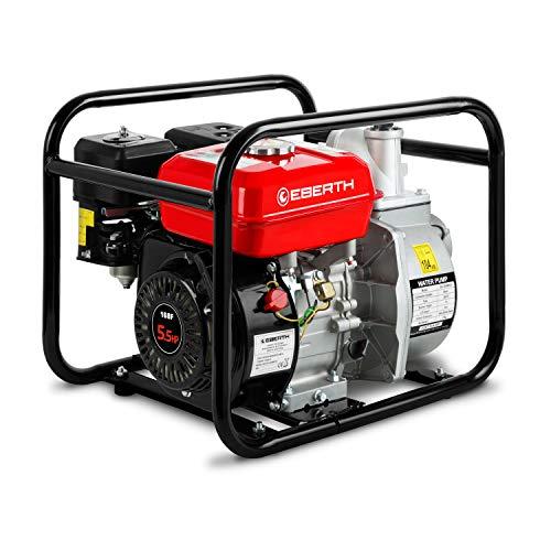 EBERTH 2' Benzin Wasserpumpe (30.000 l/h, 5,5 PS Benzinmotor, 2 Zoll Anschluß, 30m Förderhöhe, 7m Ansaughöhe, Seilzugstart)
