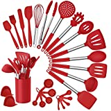Homikit 27 Pieces Silicone Cooking Utensils Set with Holder, Kitchen Utensil Sets for Nonstick...