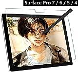 KONEE Surface pro 6 ペーパーライク フィルム 紙のような 描き心地/上質紙 アンチグレア 反射低減 非光沢 プロ シート Surface pro 6 保護フィルム