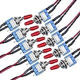 10 Piezas Mini Interruptor Palanca con Precableado Kit Interruptor de Palanca con Precable...