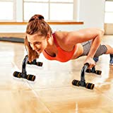 FOOING Soporte para Flexiones Push Up Bars Stand - Barras para Flexiones Gimnasio Ejercicio Formación - para Ejercicios, Gimnasio Equipo de Entrenamiento para Hombres y Mujeres (Rojo)