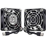 GDSTIME 2-Pack 60mm x 15mm USB Fan 5V Brushless DC Cooling Fans for PC Computer Case Cooler Raspberry Pi Radiator Ventilation