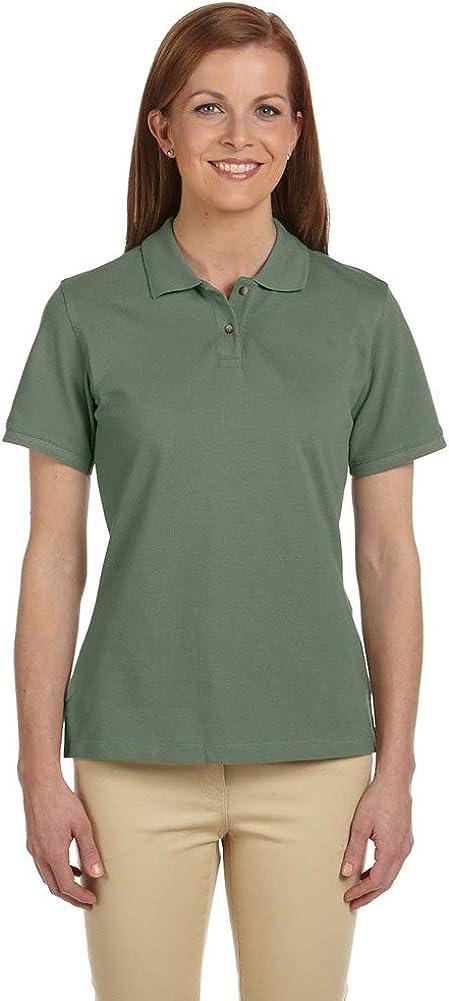 Harriton Womens 6 oz. Ringspun Cotton Piqué Short-Sleeve Polo (M200W) DILL