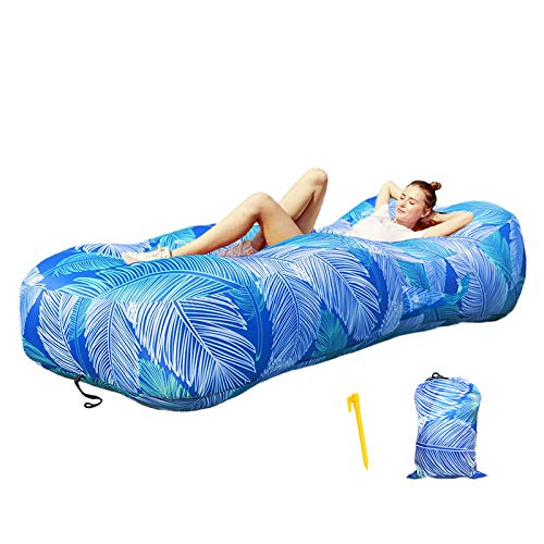 BZ Ergonomic Inflatable Lounger Air Sofa Inflatable Couch for Travelling, Outdoor, Camping, Hiking, Beach Parties, Picnic, Backyard, Lakeside