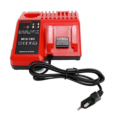 CYDZ® Reemplazar Cargador para Milwaukee M18 M12 18V 220V Li-ion tool batería 48-59-1812 48-59-1807 48-59-1806 48-59-1840 2710-20