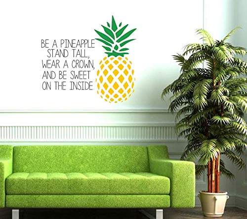 Autocollant mural en vinyle avec inscription « Be a Ananas », « Stand Tall, Wear a Crown and Be Sweet on The Inside »