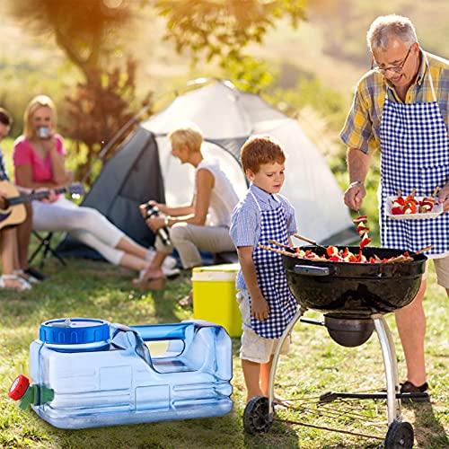 zebroau Cubo de agua de 10 l, contenedor de agua portátil grande con grifo, portador de agua para camping, senderismo, pesca, escalada, picnic, barbacoa, viajes, uso al aire libre