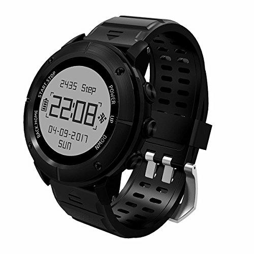 OCCMFZD Sport Smart Watch GPS De Alta Precisión Impermeable Reloj Deportivo GP De Hombres Y Mujeres Alt. De Natación Decathlon con Monitor De Frecuencia Cardíaca/Sos/Brújula/Barómetro