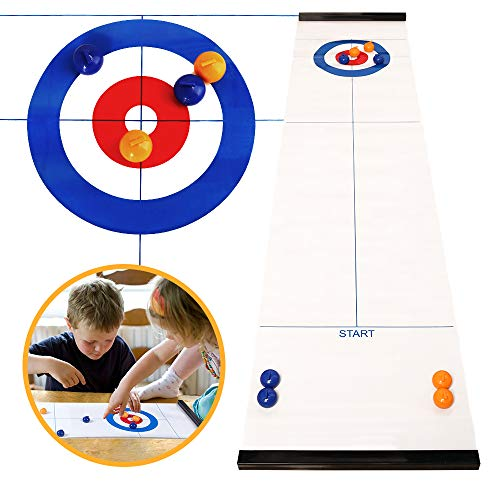 Find Discount Miunana Tabletop Games Table top Curling Board Game and Family Fun Games Shuffleboard ...