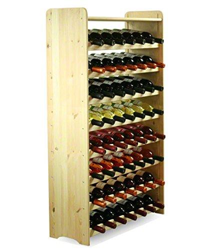 MODO24 Porta Bottiglie Vino Armadio Supporto portabottiglie per 56Bottiglie di Vino Nuovo.