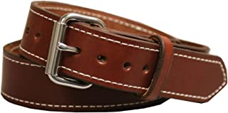 Gun Belt, English Bridle Leather, 14 Ounce - Stainless Steel Hardware - Handmade in The USA