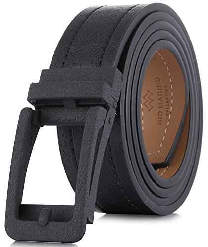 Marino Avenue Genuine Leather belt for Men, 1.3/8' Wide, Casual Ratchet Belt with Automatic Linxx Buckle