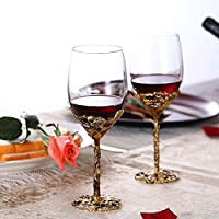 赤ワイングラス-鉛フリーのチタンクリスタルガラス、クリスタルワイングラスはワインテイスティング、誕生日、記念日、クリスマスまたはウェデ