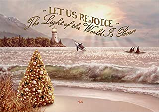 embossed lighthouse christmas cards