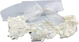 xldreams Imported Flower design White Lace Hairband/Head band for kids/infants for party/baptism/birthday naming ceremony