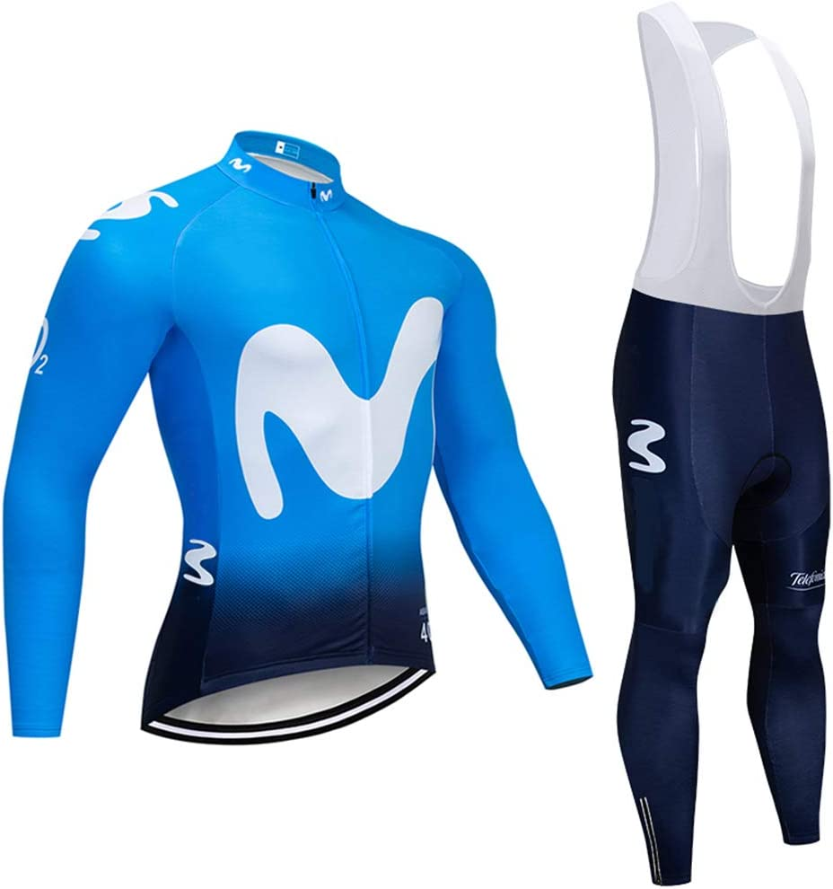 Ropa de Ciclismo Hombre Traje de Bicicleta Conjunto de Respirable Ropa MTB Pantalones para Montar en Bicicleta Conjunto Secado R/ápido