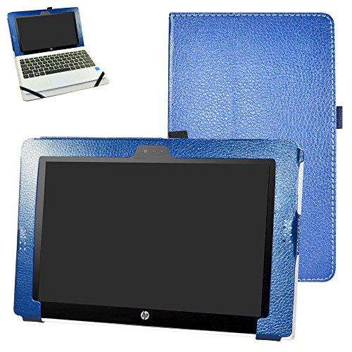 HP Pavilion x2 10.1 Funda,Mama Mouth Slim PU Cuero Con Soporte Funda Caso Case para 10.1' HP Pavilion x2 10 10-n201ns 10-N105NS 10-n102ng 10-N002NS 10-n200ns 10-n101ng 10-N001NS 10-n103nf 10-N102NS 10-n113nf 10-n111nf 10-n156na 10-n106nl 10-n000nf 10-n200nf 10-n231ng Tablet,Azul oscuro