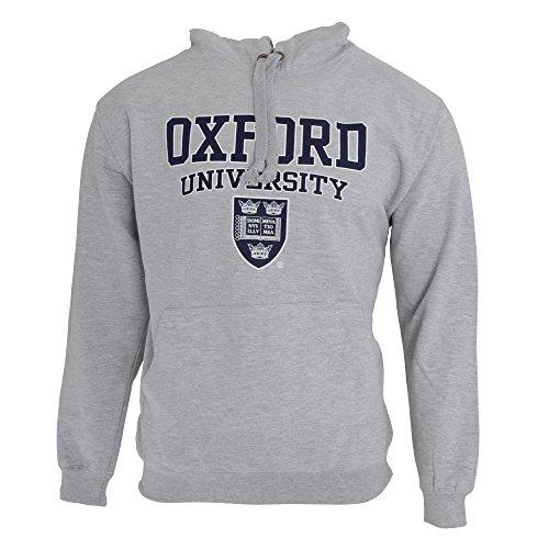 Oxford University Herren Kapuzenpullover/Hoodie/Kapuzen-Sweatshirt mit Aufschrift (L - 107/112cm) (Grau)