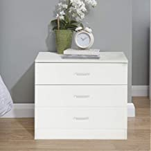 Zipperl 3 Drawers Dresser Wood Chest Cabinet for Closet to Storing Clothes,Cosmetic and All Kind Accessories - White