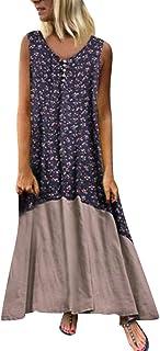 ReooLy Zweiteiliges kurzärmeliges, lässiges Sommerkleid mit gestreiftem O-Ausschnitt für Damen