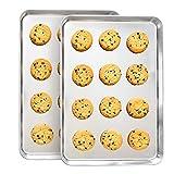Stainless Steel Cookie Sheet Baking Sheet Pans Set For Cooking Large Big Half Dishwasher Safe Non...