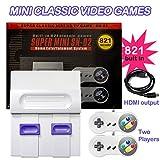 Super Mini NES Console de Jeu vidéo rétro Classique avec 821 Jeux intégrés avec Double manettes...
