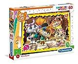 Clementoni- Supercolor Puzzle-44 Gatti-60 Pezzi, Multicolore, 26052