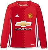 adidas H JSY Yl Camiseta 1ª Equipación Manchester United 2015/16, Niños, Rojo/Blanco, 11-12 años