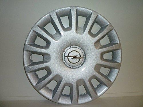 Lot de 4 Enjoliveurs Enjoliveur Boutons Clous de voiture Coupes Rivets Roue Opel Corsa r 14 depuis 2006 (Sc 478L) Logo Chromé