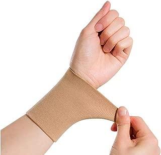 1 Pair Black/Skin Forearm Tattoo Cover Up Wrist Brace Compression Sleeve Carpal Tunnel (XXL, Skin)