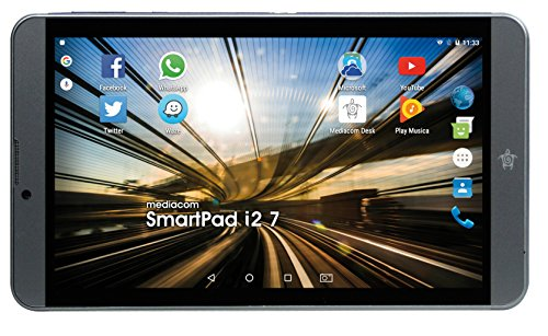 Mediacom SmartPad i2 Tablet, Display da 7' IPS, Memoria Interna da 8 GB Processore Intel Atom x3 Quad Core, 1.2 GHz