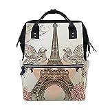 Cramp Iron Bird Flower School Backpack Bookbag Travel Shoulder Stylish Large Capacity Diaper Bags