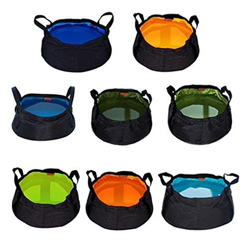 Cubo de lavabo plegable para senderismo o acampada, 8,5 l, color al...