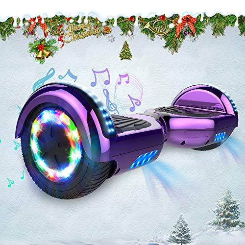 HITWAY Hoverboard, 6.5 inch Self Balancing Scooter Hoverboard with Bluetooth Speaker, Segway hoverkart with LED Lights, 700W Motor, Gift for kids and teenager and adults