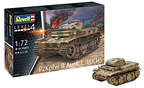 Revell- PzKpfw II Ausf.L Luchs (SD.Kfz.123) Modello Kit Carro Armato, Multicolore, 6,5 cm, RV03266